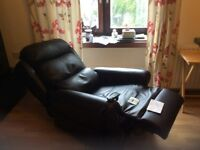 Reclining Black Leather Chair for sale
