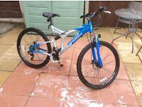 Ammaco bullseye full suspension mountain bike 18 inch frame 20 inch wheels in fantastic condition