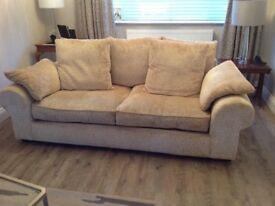 Sofas x2 large&medium Creme/Beige