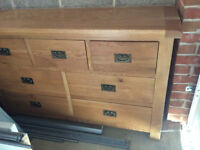 Solid Wood Sideboard Unit - Oak