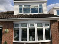 Bow lounge window and bedroom window