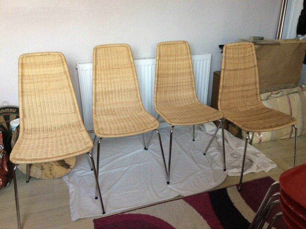 Ikea Set Of 4 Linus Dining Chairs
