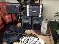 Mackie 450 Speakers for Sale, plus Accessories.