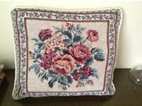 4 Tapestry Fabric Cushions - Victorian Rose design supplied complete with pads