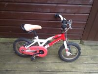 Children's bike for sale: Suitable for up to 5 year old child.
