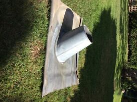 Lead roof flashing for pitched roof