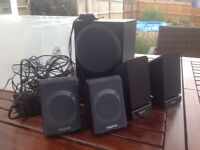 4 Creative Speakers and Subwoofer. Good condition.