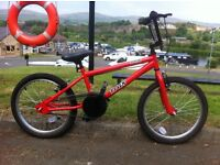 "Trax BMX 20"" Bicycle Red with tags mint condition"