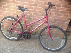 Ladies Large Frame Raleigh Mountain Bike 10 Speed