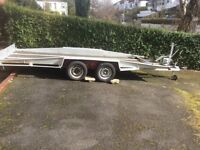 Bateson car transport tilt trailer.