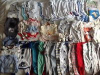Baby clothes bundle ( body suits and baby grows) 0-3 months