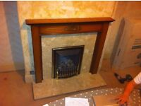 Gas fire and hearth