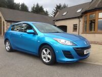 MAZDA 3 TS DIESEL 5 DOOR, 2010, BLUE, NEW MOT, VGC