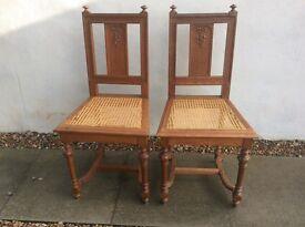 Pair of Antique Belgian Bedroom Chairs