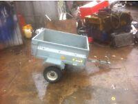 Fully galvanised tipping garden trailer
