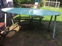 Glass garden table - free