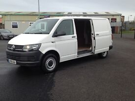 2016 VOLKSWAGEN TRANSPORTER TDI BLUEMOTION. VERY SCARCE LONG WHEEL BASE MODEL WITH 13000 MILES ONLY.
