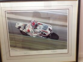 Limited edition motorcycle print by Ray Goldsborough