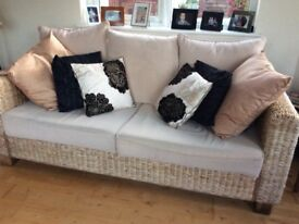 Sunroom furniture. 3 seater settee and 2 chairs. Excellent condition