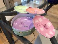 Boxed set of four salad/ cake plates