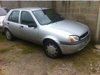 x reg 1.8 diesel fiesta 5 door hatchback good reliable car £295