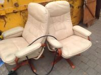 Parker Knoll Leather Chairs for sale