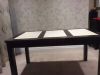 Walnut oblong dining table