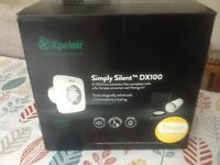 Xpelair Simply Silent DX100TS extractor fan. Brand new. Unused.