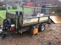 Ifor Williams tt85 6x4 with greedy sides and hiab crain