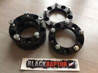 New/Unused - Black Raptor 30mm Aluminium Land Rover Series / Defender Wheel Spacers 90 110