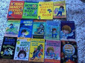 Horrid Henry books x14