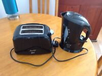 TOASTER + LOW WATTAGE CORDLESS KETTLE