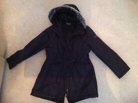 Black Parka Coat