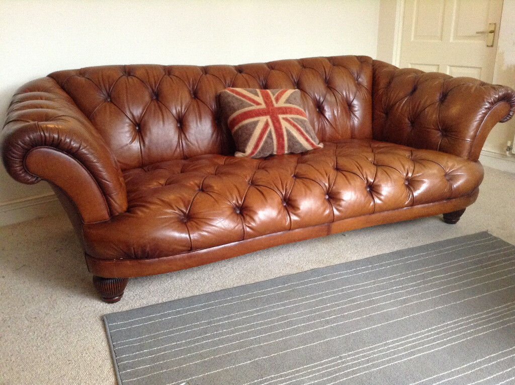 Tetrad Dfs Oskar Leather Sofa Immaculate 3 4 Years Old