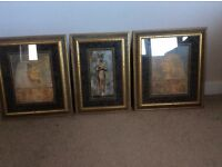 Framed Egyptian pictures (three)