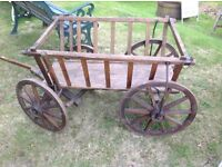 Four wheel vintage cart