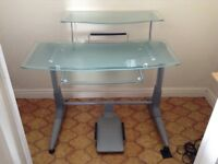 Glass Desk, ideal for computer station