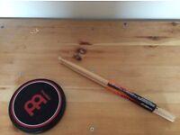 Drumsticks and Drum Pad
