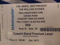 2 Premium Level Tickets for the Rolling Stones Concert in Croke Park