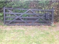 Wooden Five Bar Gate and Solid wooden posts to hang gate.