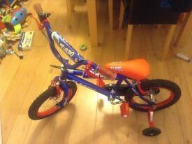 Boys Magna Tutbo Cruisin Bike Bicycle Age 5-7 14 inch Wheels Raleigh