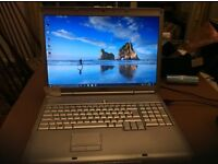 "17.0"" Dell inspiron 1720 PP22X Windows 10 Laptop, Dual Core, 250GB HDD, 4 GB Ram"