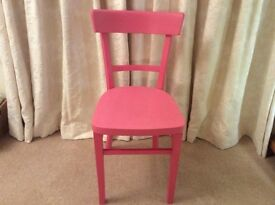 Single pink chair