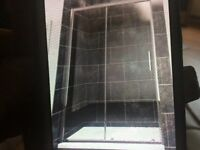 Shower door with Crome frame toughened safety glass