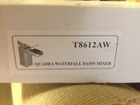 Waterfall Basin Mixer Tap Silver ( brand new)