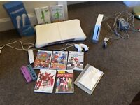 Nintendo wii console with wii fit and games