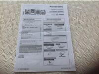 Panasonic CD / radio player