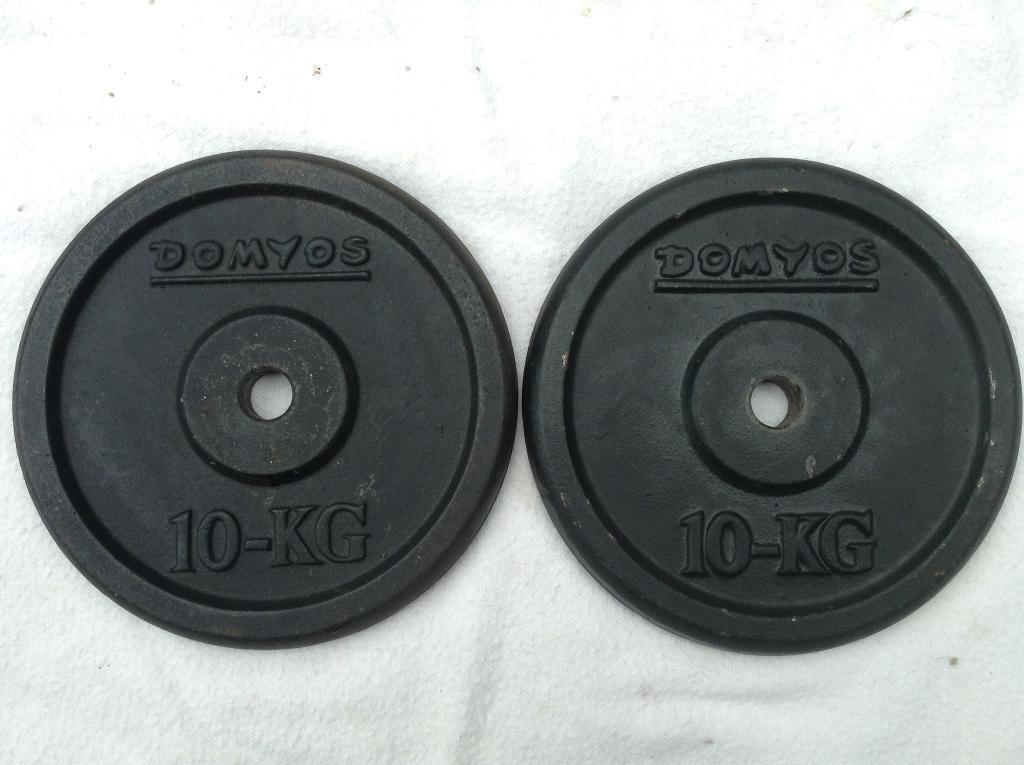 8 x 10kg Domyos Standard Cast Iron Weights