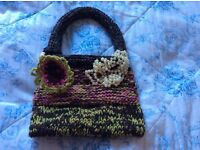 Gorgeous hand knitted bag