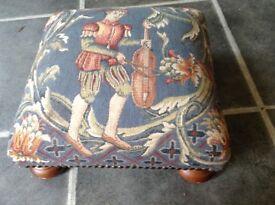 Beautiful tapestry foot stool